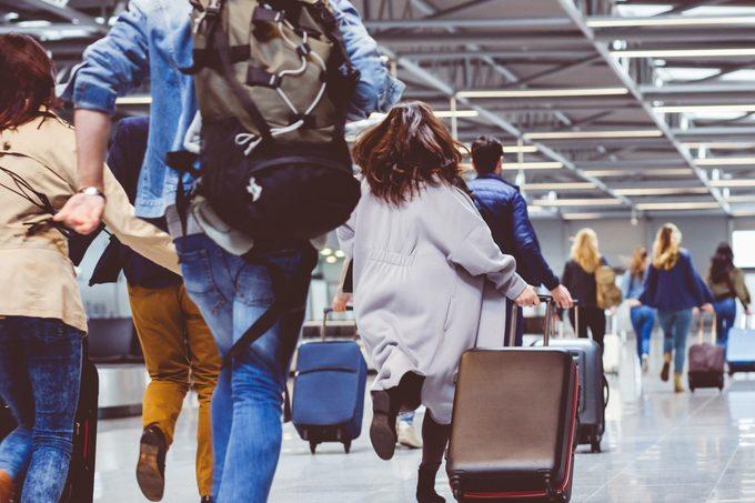 airport lay over rush running