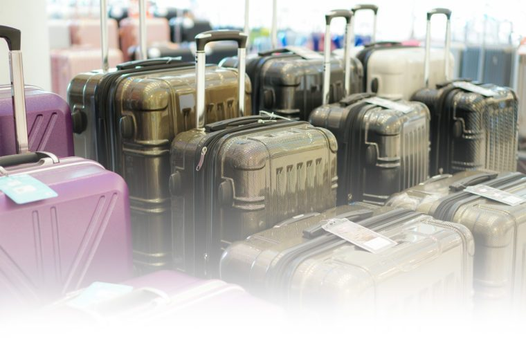 luggage displayed for sale