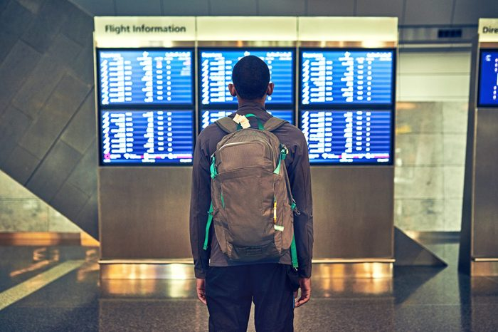 flight departure time board airport
