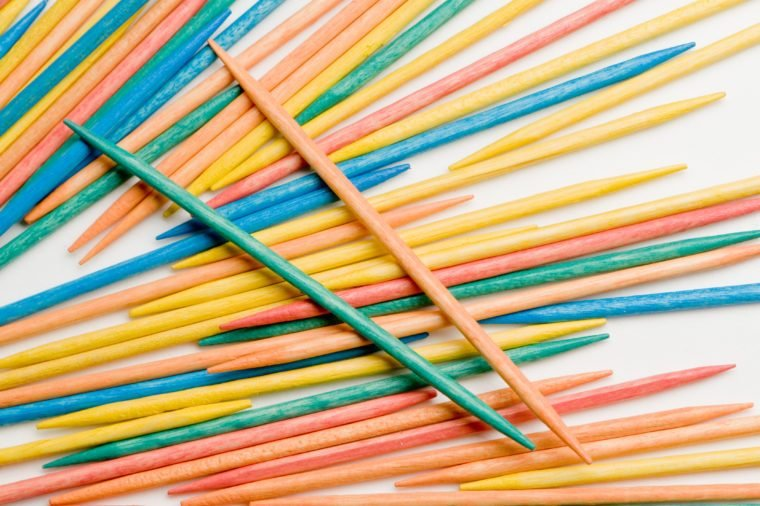 colorful toothpicks