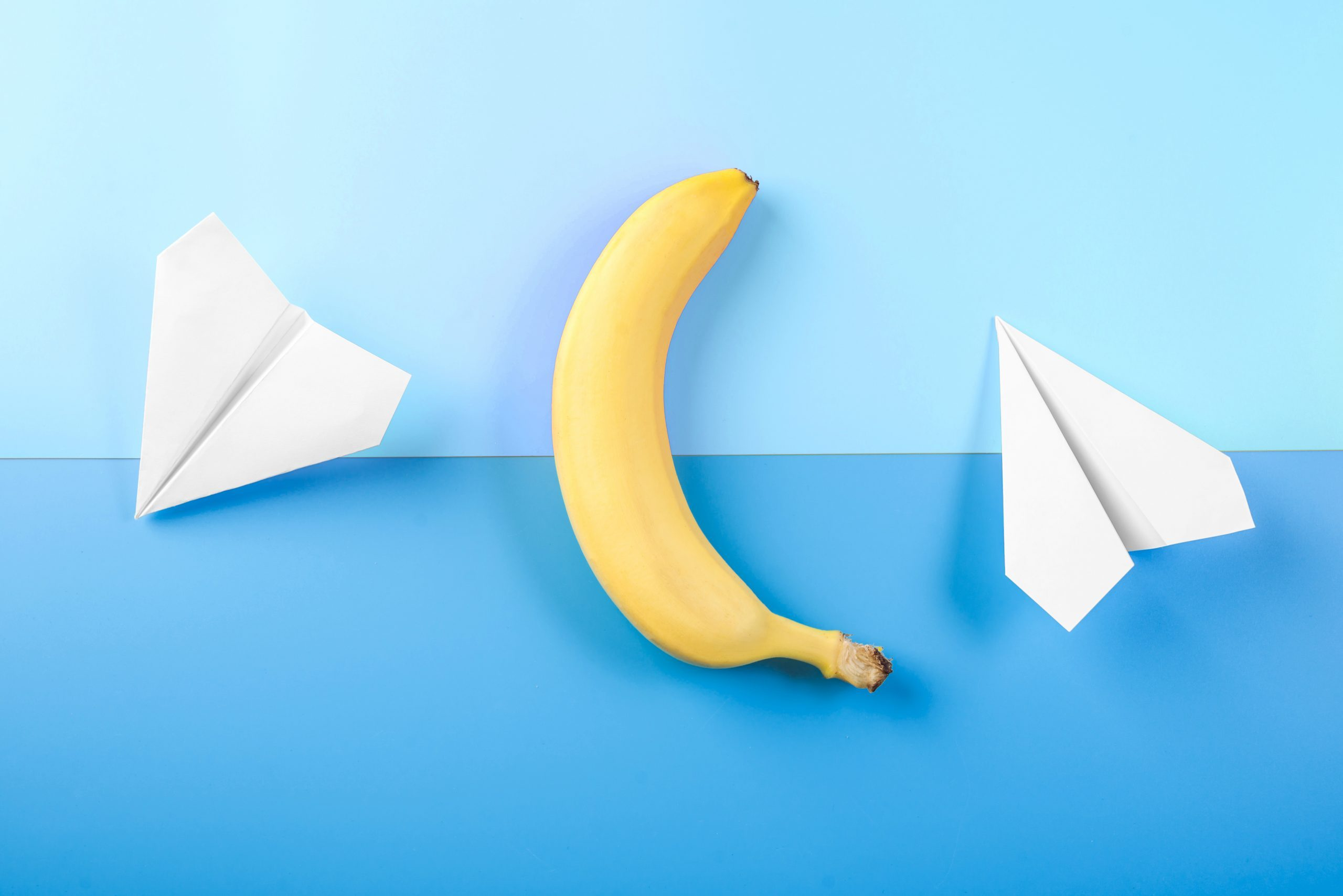 banana paper airplanes security concept