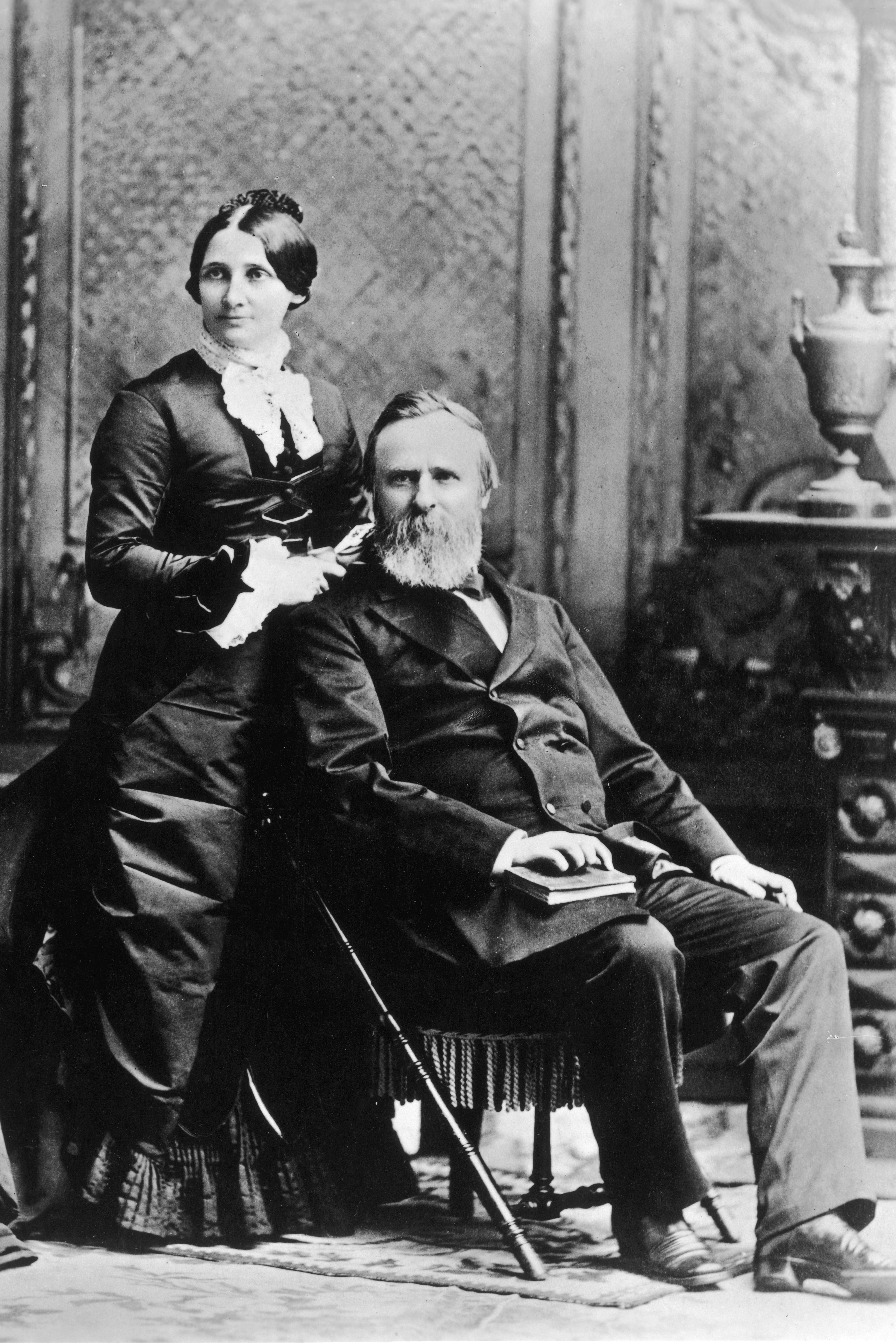 President Rutherford Hayes and wife Lucy Hayes
