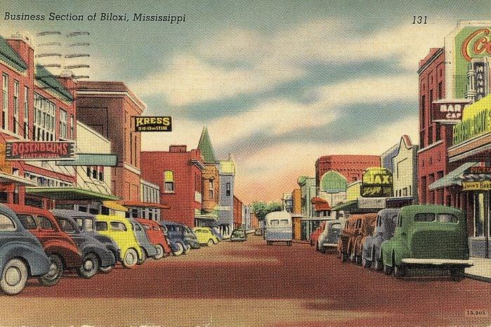mississippi vintage post card