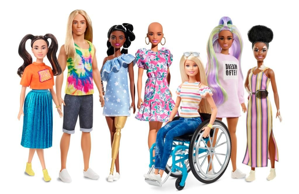 diverse barbie dolls 2020