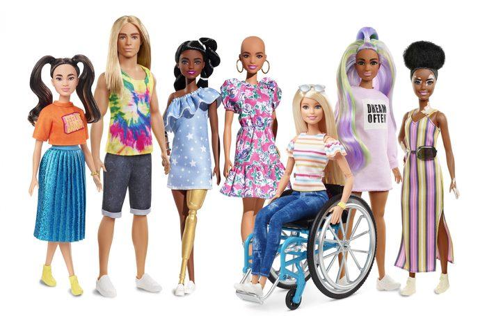 diverse barbie dolls 2020