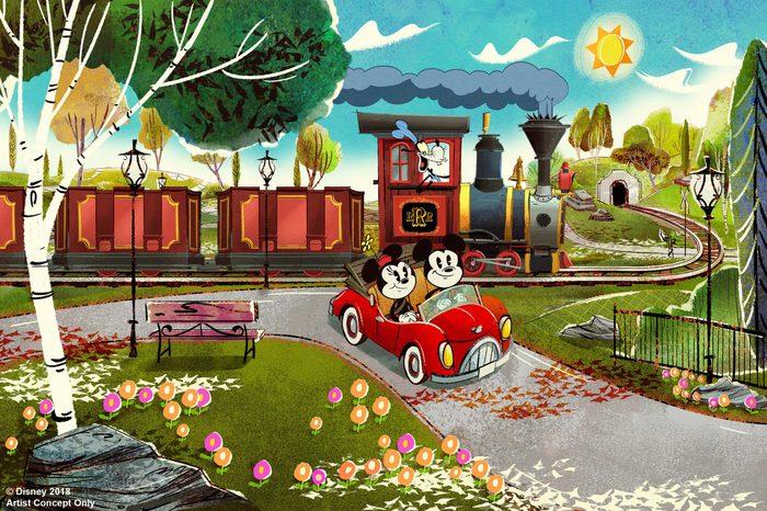 mickey and minnie railway