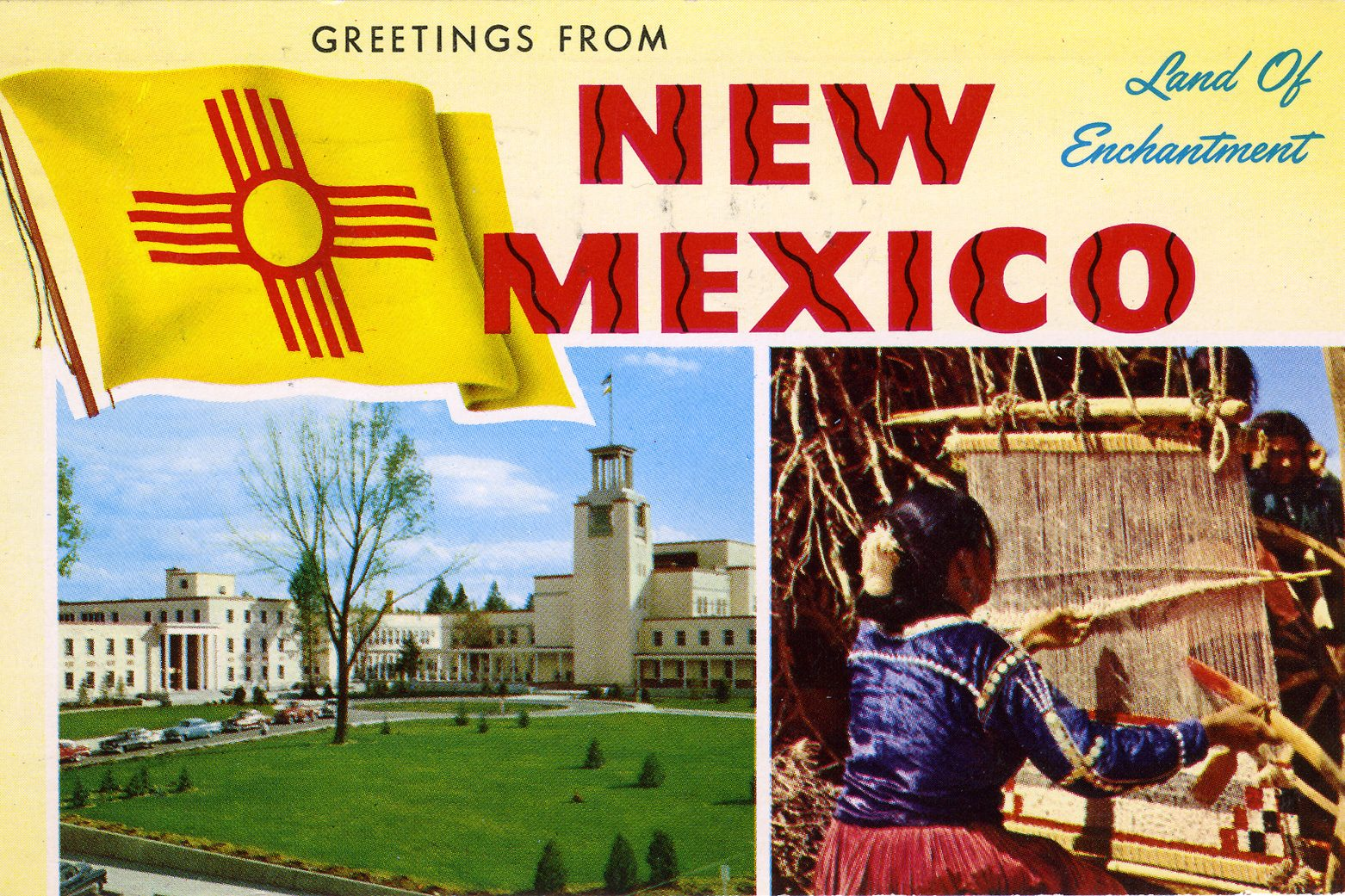 new mexico vintage post card