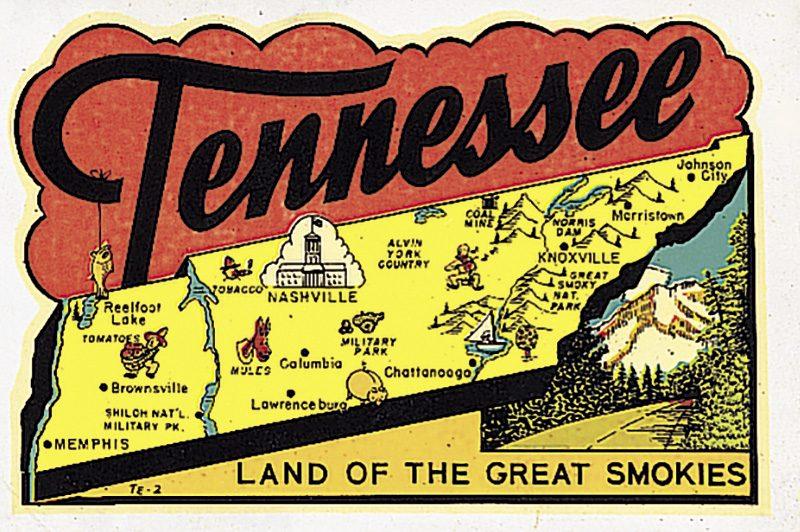 Tennessee vintage post card