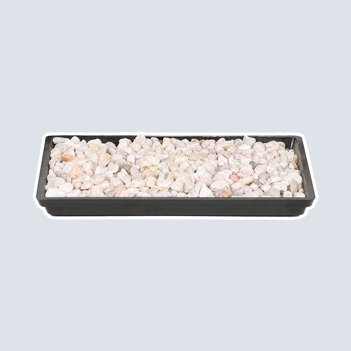 """Brussel's 8"""" Humidity Tray with Decorative Rocks"""