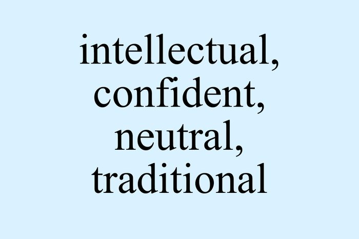 times new roman font intellectual confident neutral traditional