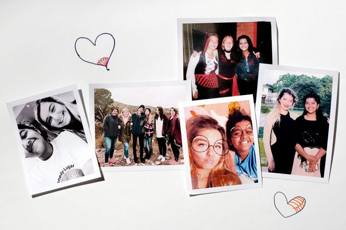snapshots on a white background