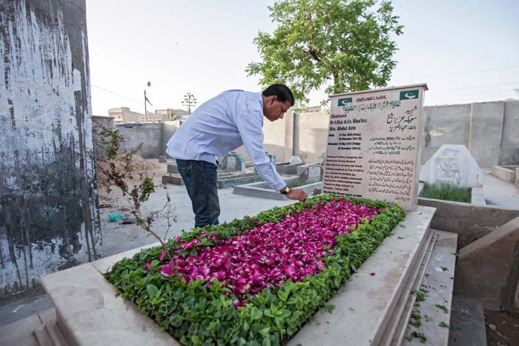 Aziz at sabika's grave