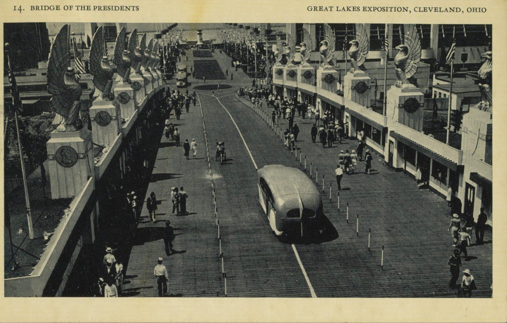 cleveland ohio vintage postcard