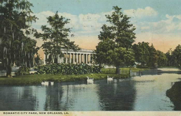 new orleans louisiana vintage post card