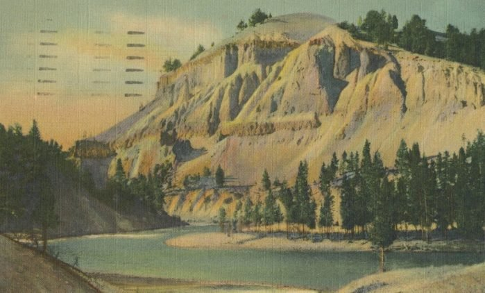 yellowstone national parl wyoming vintage post card