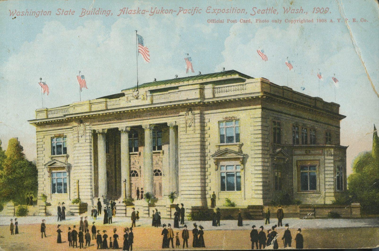 washington vintage post card