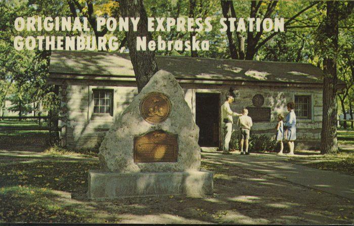 nebraska vintage post card