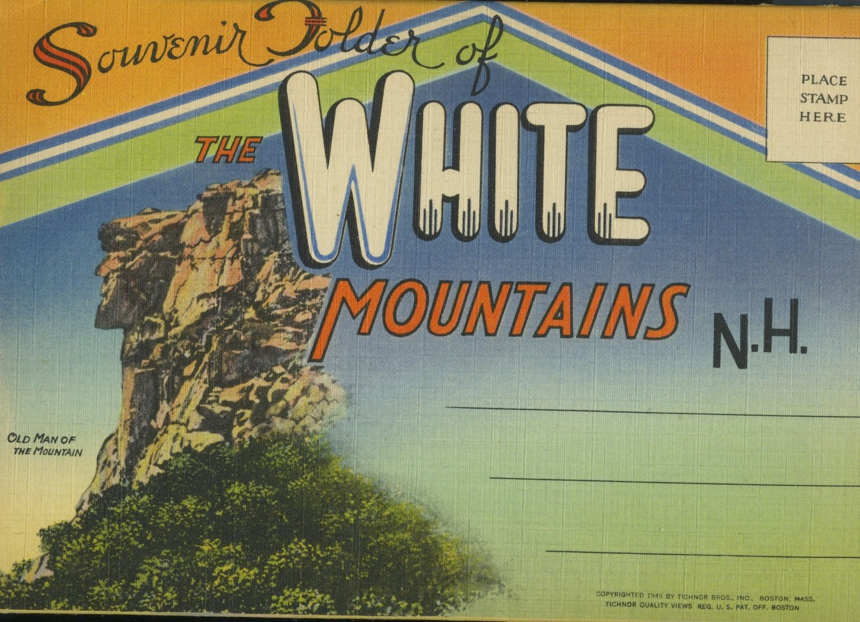 new hampshire vintage postcard