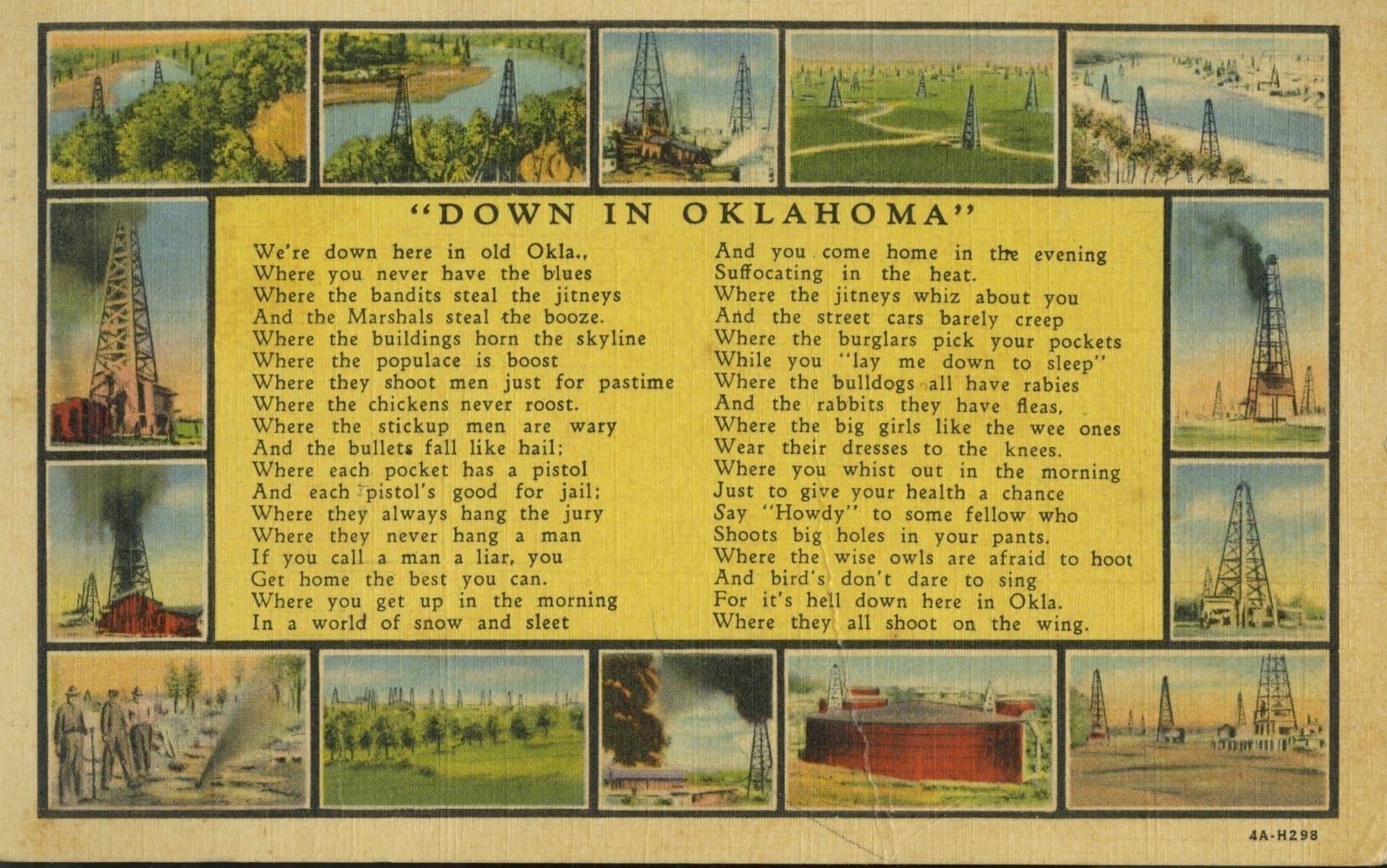 oklahoma vintage postcard