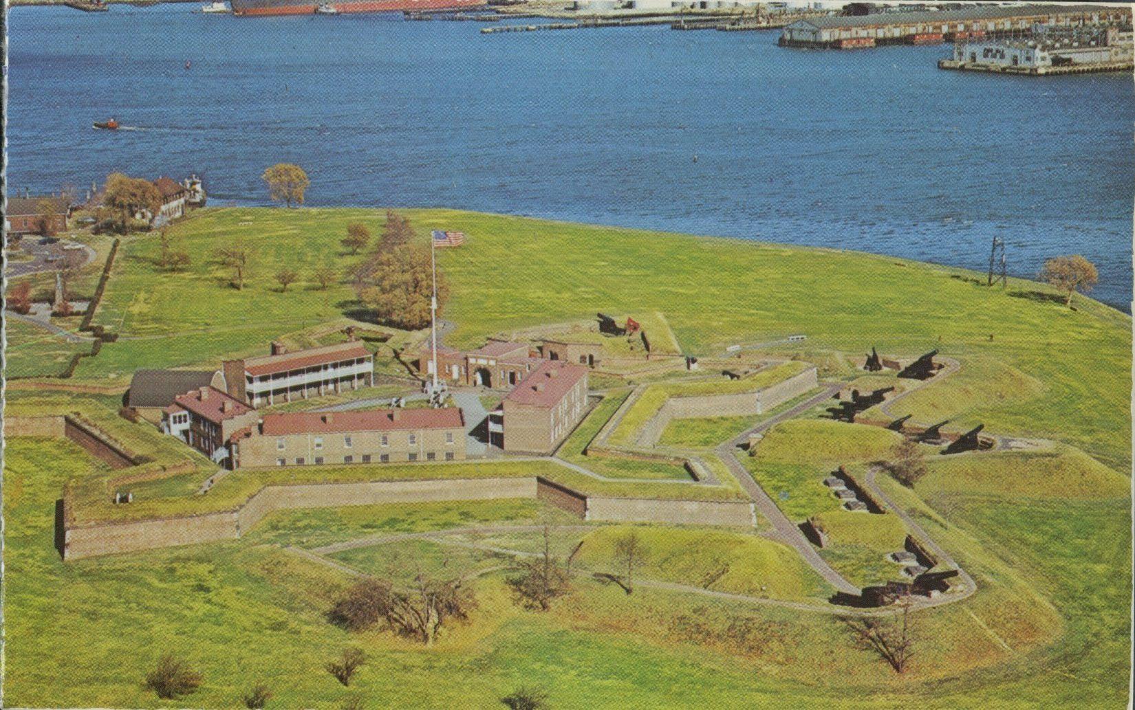baltimore maryland fort mchenry vintage post card