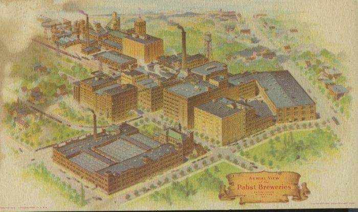 milwaukee wisconsin pabst schlitz beer breweries vintage post card