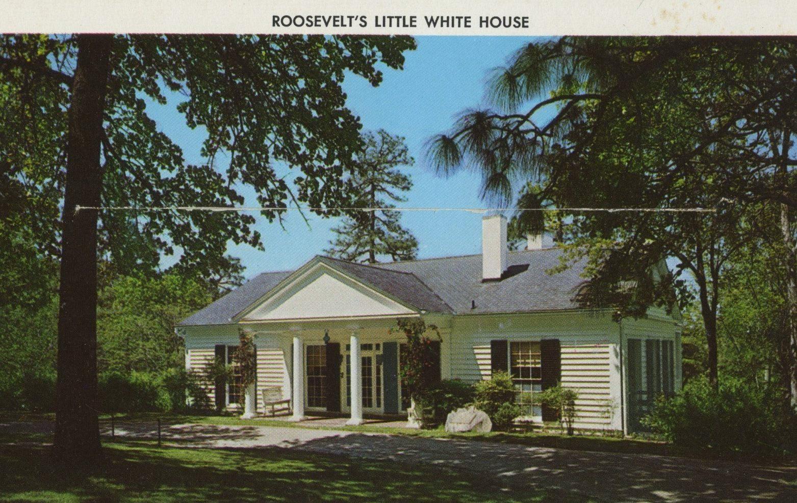 georgia vintage postcard roosevelt's house