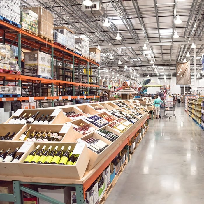 costco aisle of wine