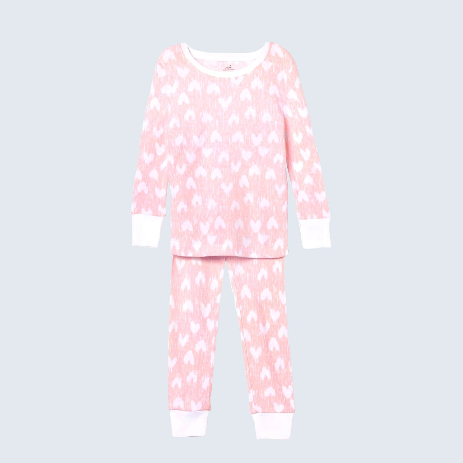 For the littlest lovebugs: aden + anais Cotton Hearts Pajamas