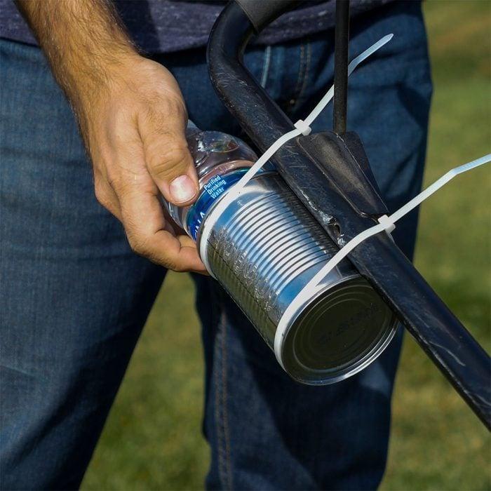 tin can bottle holder