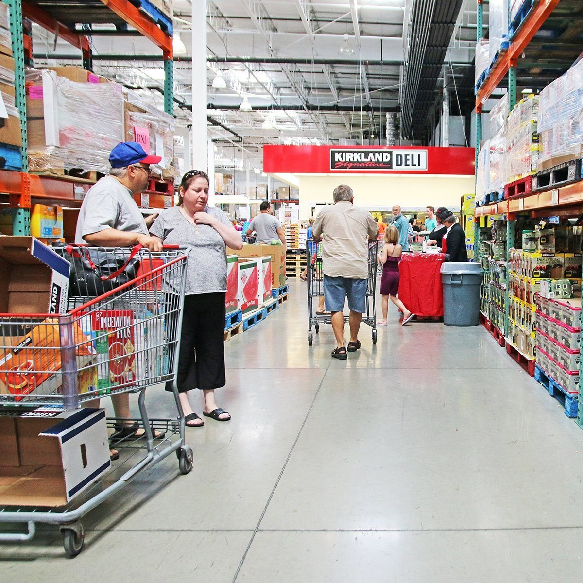 Grocery store interior