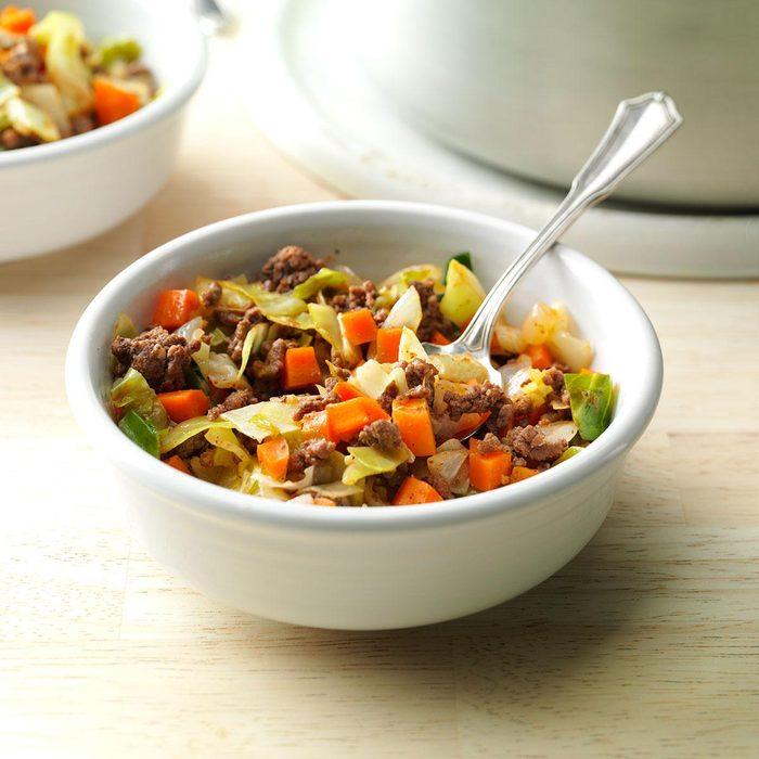 Saucy Beef and Cabbage Supper