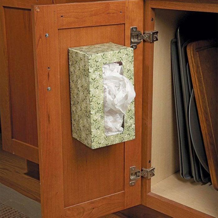 tissue box bag holder