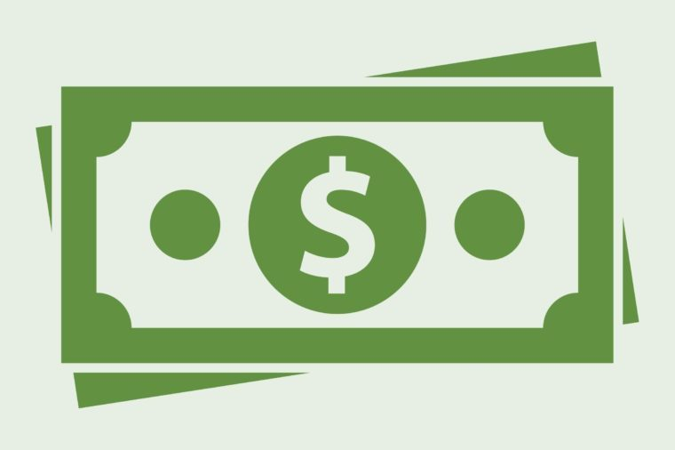 money icon on light green background