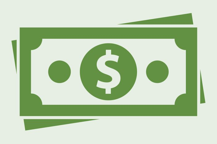 money icon on light green background