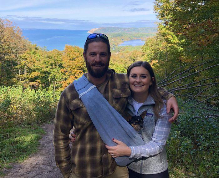 Summer Hutchinson hiking with koko dog saved relationship