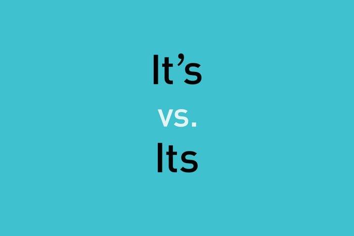 text: it's vs. its