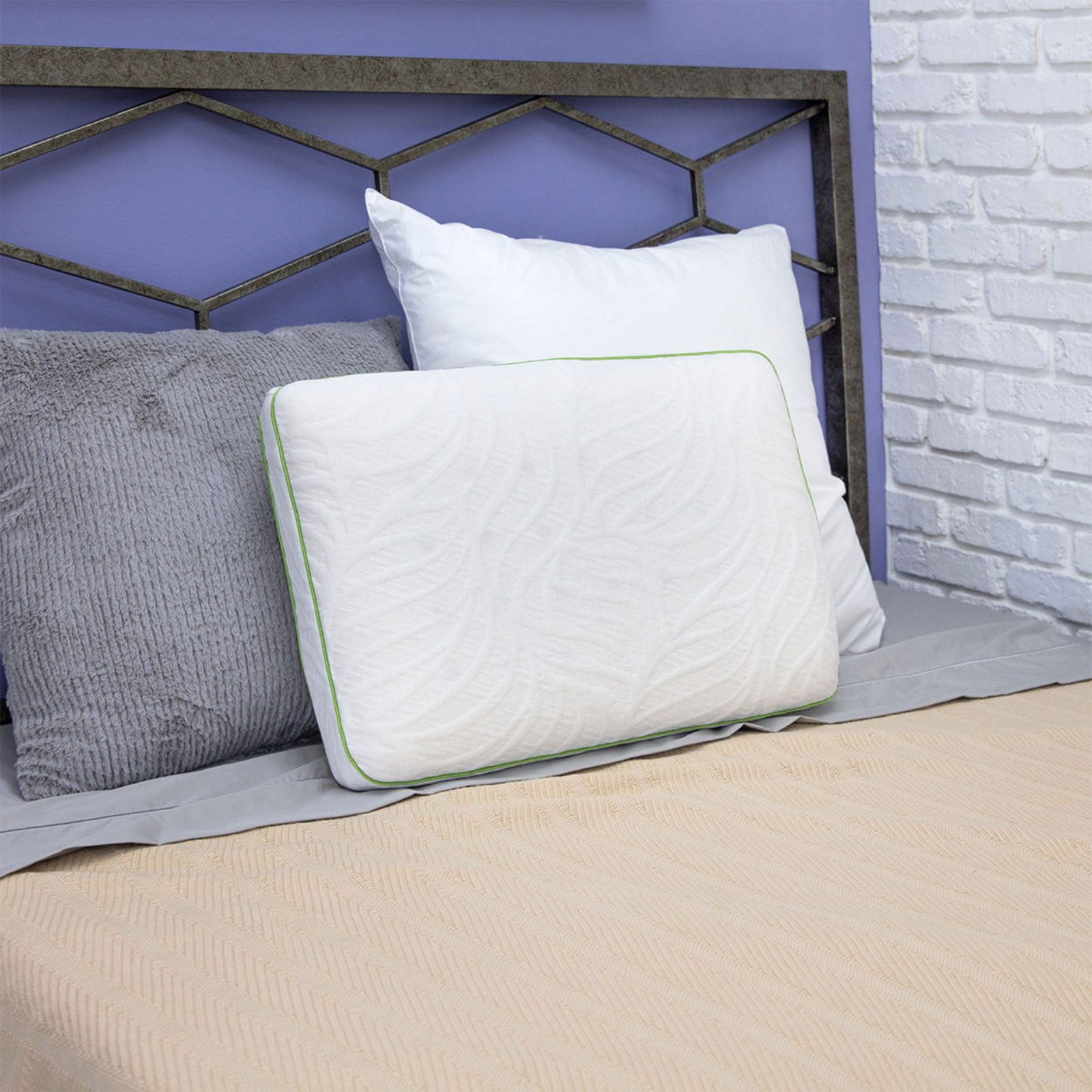 For a bed that feels like an escape: SensorPEDIC Chamomile Scented CBD Memory Foam Bed Pillow