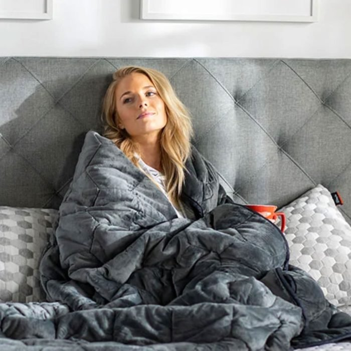 For better cuddling:Layla Weighted Blanket