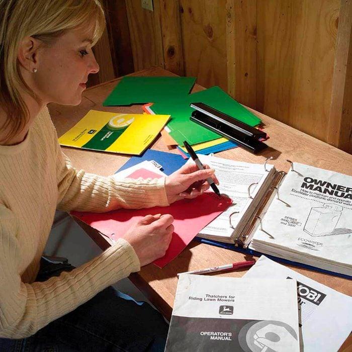 manuals in a binder