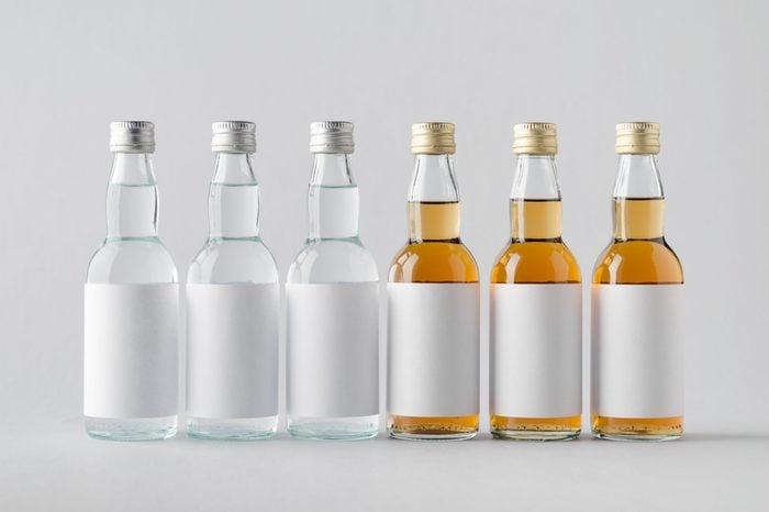 Miniature Spirits/Liquour Bottle Mock-Up - Multiple Bottles. Blank Labels