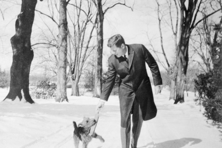 JFK and dog charlie