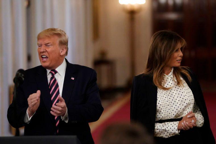 president trump and melanie trump