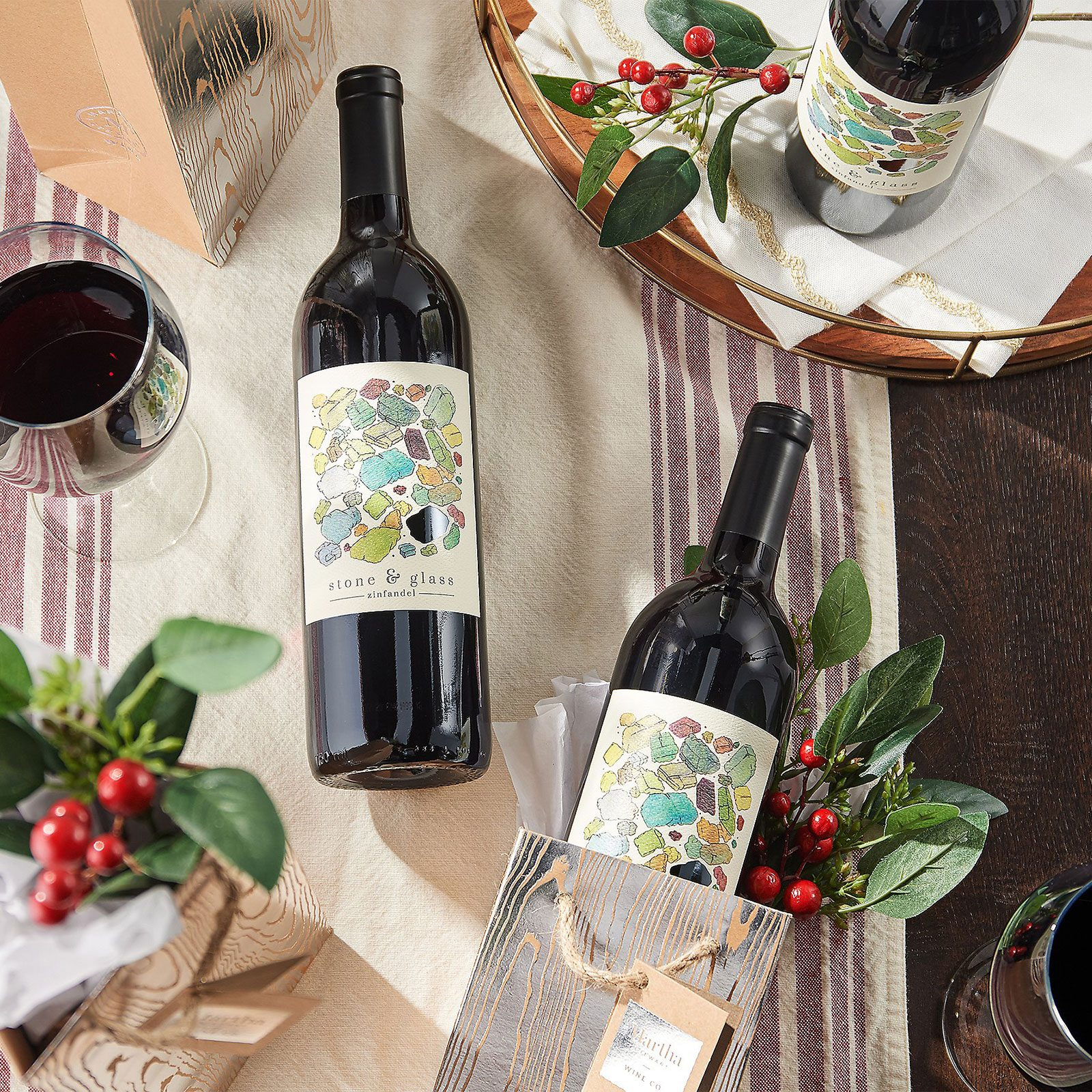 For the one who has everything: Three Bottle Gift Set from Martha Stewart Wine Co.
