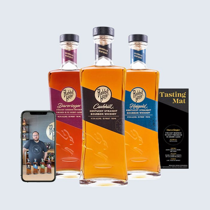 For the whiskey fan: Rabbit Hole Private Virtual Tasting Package