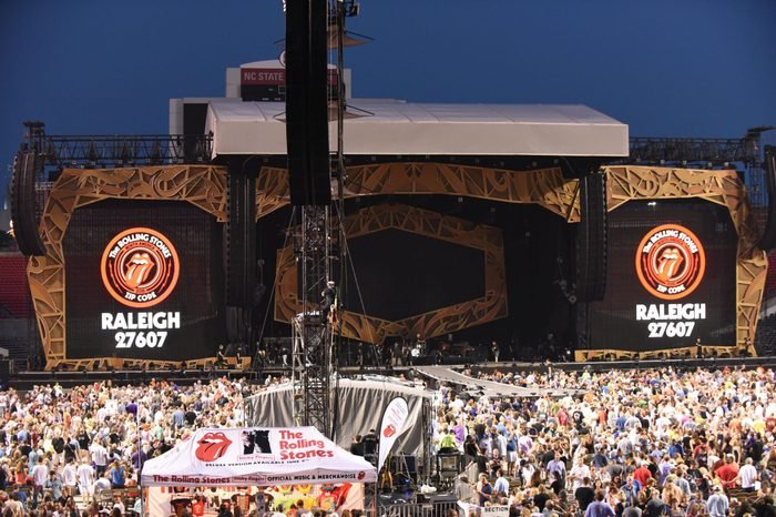 The Rolling Stones' performance at Carter Finley Stadium raleigh north carolina