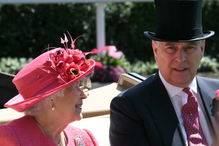 prince andrew and queen elizabeth