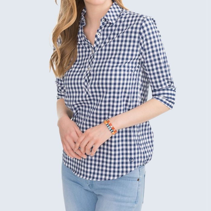 For the Stylish Sports Fan: Southern Tide Gameday Intercostal Hadley Popover Shirt