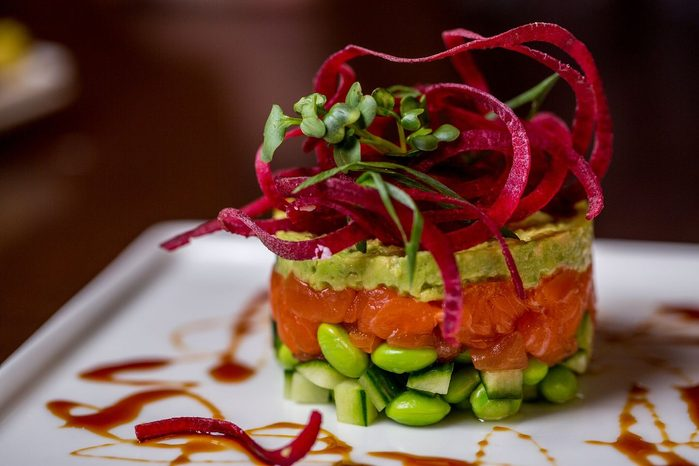 The Hotel Captain Cook sushi tower
