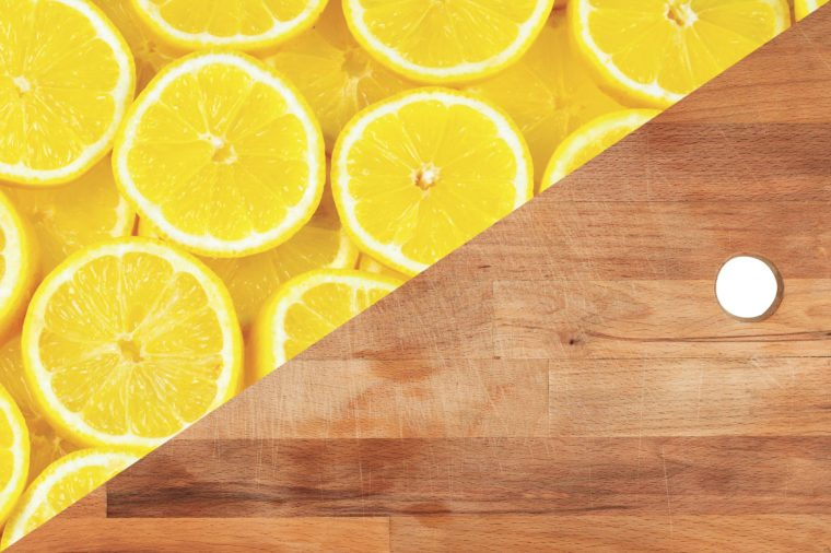 things to clean with lemons wood cutting board