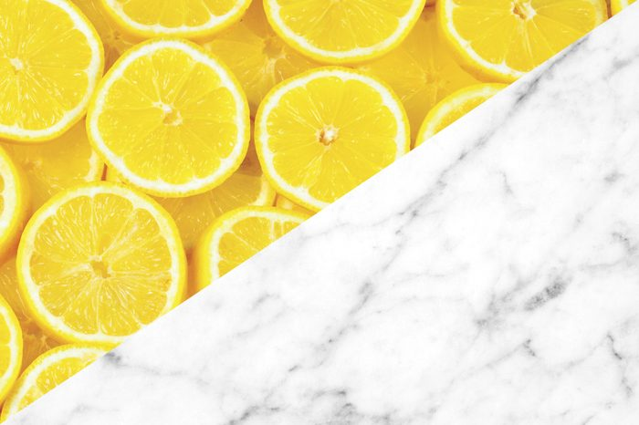 things to clean with lemons marble